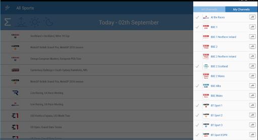 UK Live Sport TV Guide 2.01 screenshots 9