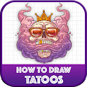 Learn To Draw Tattoos step by step icon