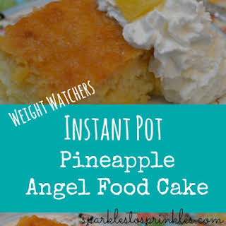 Weight Watchers Instant Pot Pineapple Angel Food Cake.