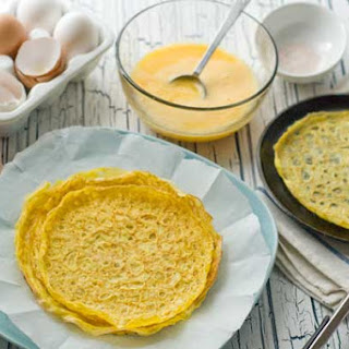 Gluten Free Egg Crepes.