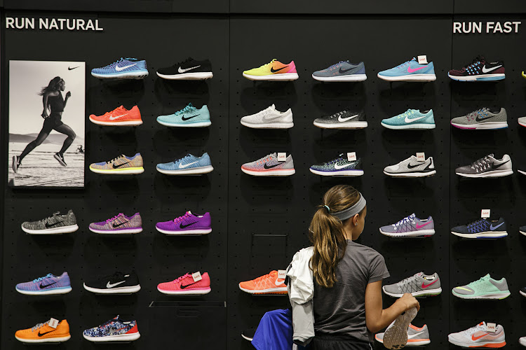 The women's sections of sports shops are often dominated by overtly girly details
