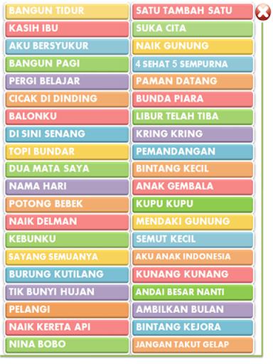 Lagu Anak Indonesia Lengkap filehippodl screenshot 1