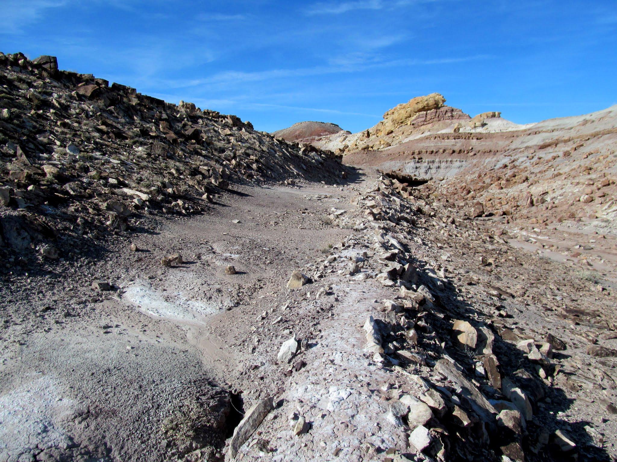 Photo: Old mining track