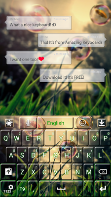 Bubbles GO Keyboard - screenshot