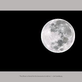 by Murthy Putrevu - Typography Captioned Photos ( #moon #blackandwhite )