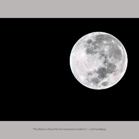 by Murthy Putrevu - Typography Captioned Photos ( #moon #blackandwhite )