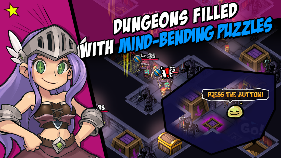 WhamBam Warriors - Puzzle RPG Android App Screenshot