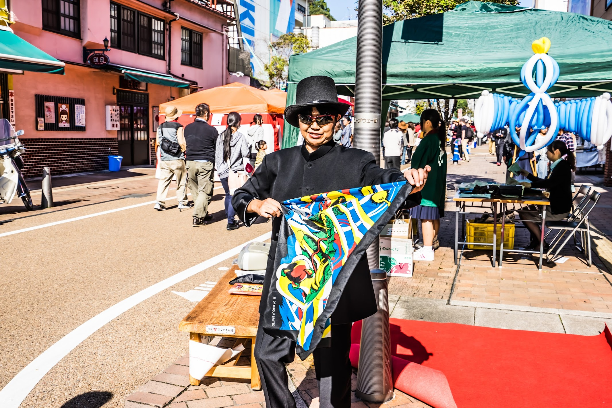 Shiroyama-monzen-matsuri Street performer1