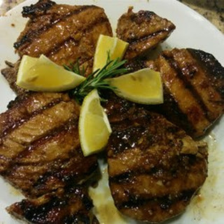 Grilled Yellowfin Tuna with Marinade.