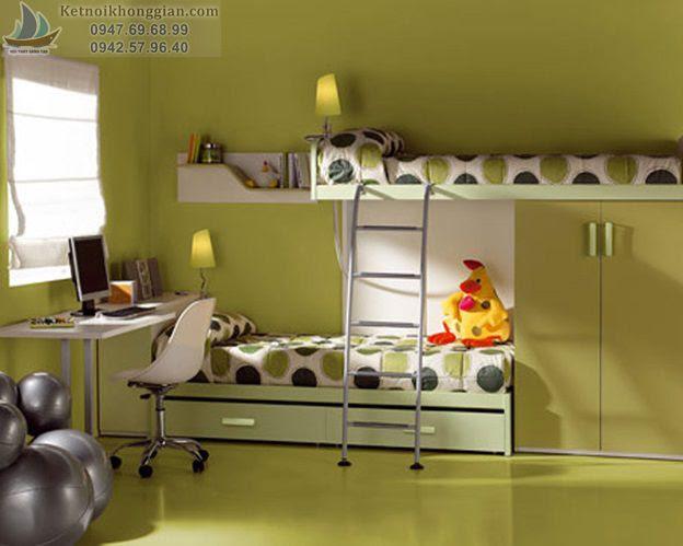 thiết kế phòng ngủ bé theo chủ đề