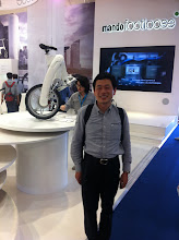 Photo: Dr. JG Song  Mando Plug-in-Hybrid ebike technology inventor (many cars from GM, BMW, Audi, Merc, etc. will have Steering, Suspension and braking systems will have a Dr. Song patent)