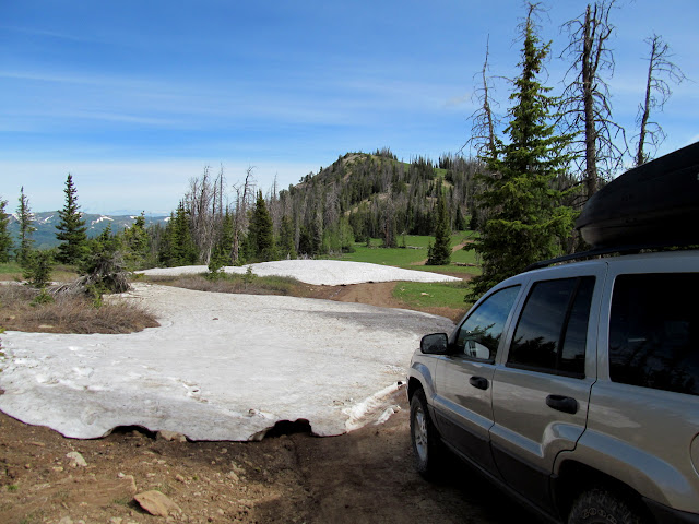 Snow drifts on East Mountain