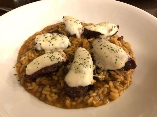 帕狄尼諾 Padrino 義大利廚房 獻給心中最完美的燉飯~坎帕尼亞起司焗菲力菌菇燉飯