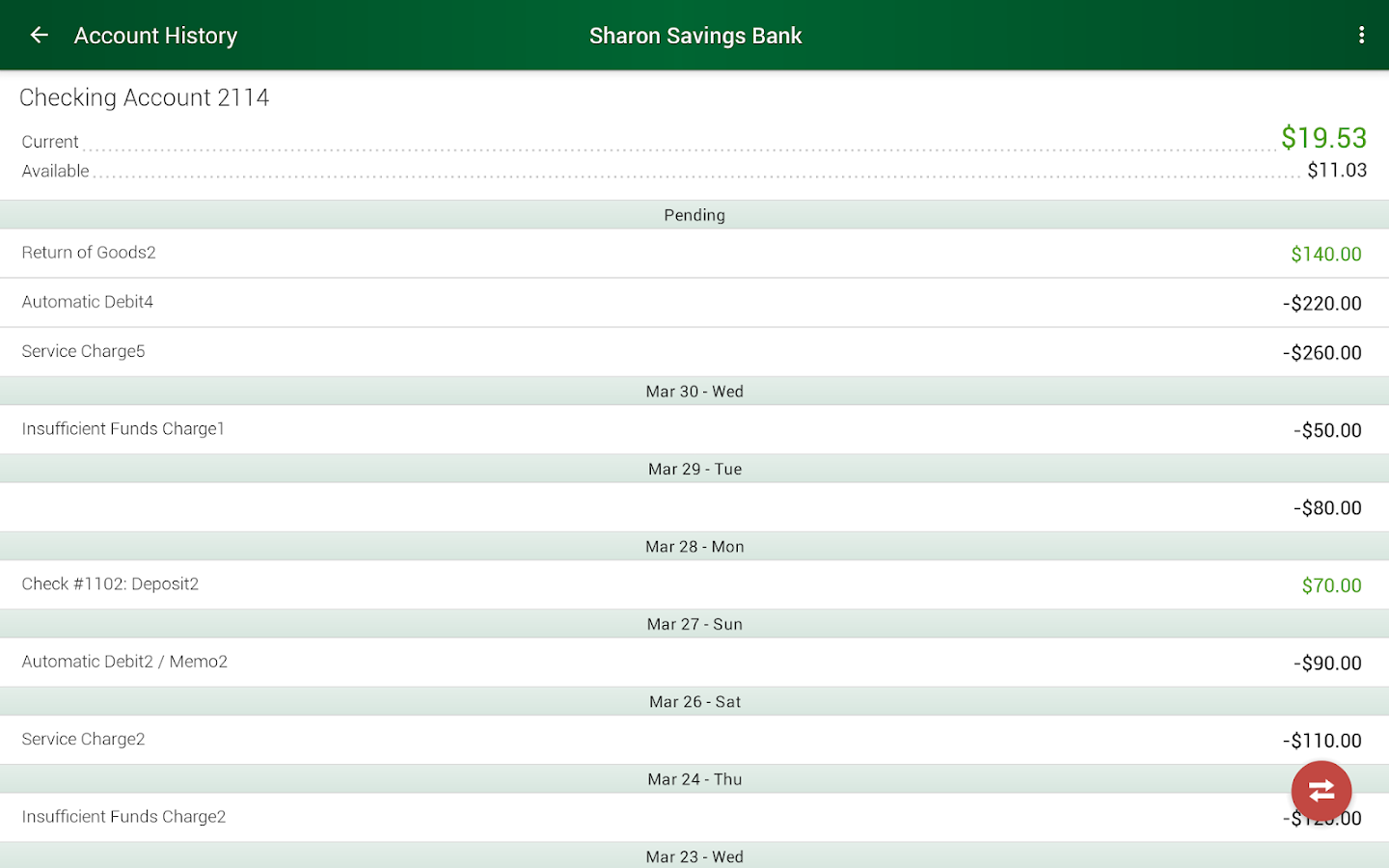 Sharon Savings Bank- screenshot