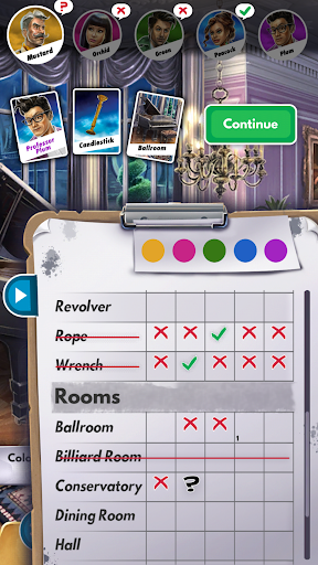 Clue game for Android screenshot