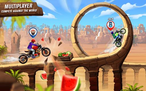 Rush To Crush - Xtreme Bike Stunt Racing PVP Games  screenshots 1