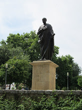 Photo: This was a statue outside thePuerta de Almodóvar where many people passed.
