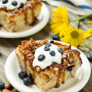 Blueberry Almond Bread Pudding.