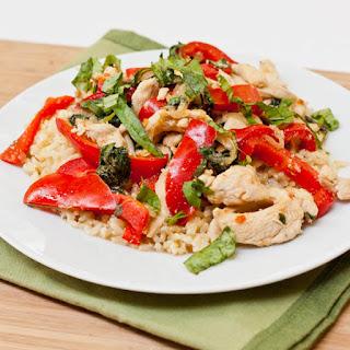 Basil Chicken Stir Fry.