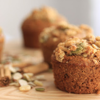 Healthy Nutty Cinnamon Muffins