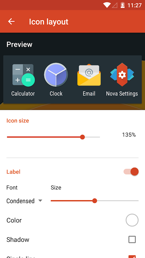 Nova Launcher – Capture d'écran