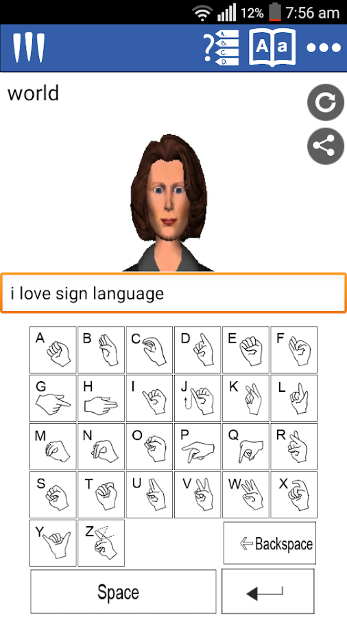 Mimix Sign Language Translator- screenshot