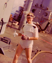 Photo: 1976 Good natured Ensign on Polywog Day