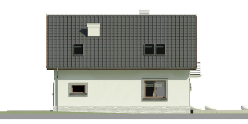 Dom przy Alabastrowej 33 - Elewacja tylna