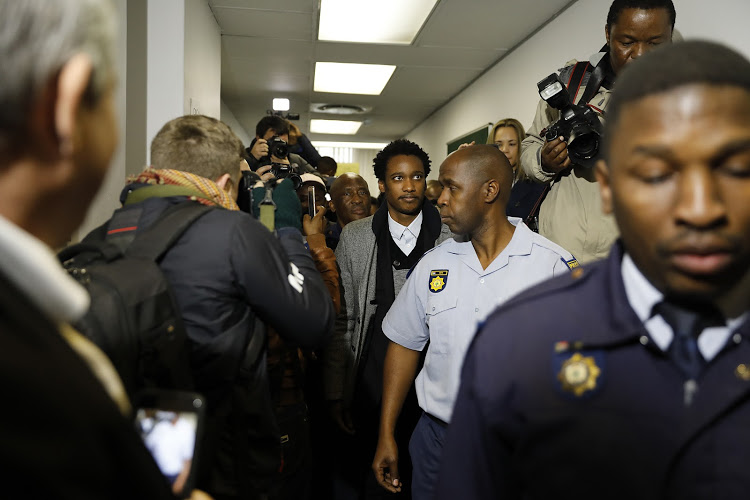 Duduzane Zuma leaves after his brief appearance at The Specialised Crimes Court in Johannesburg on JULY 9 2018
