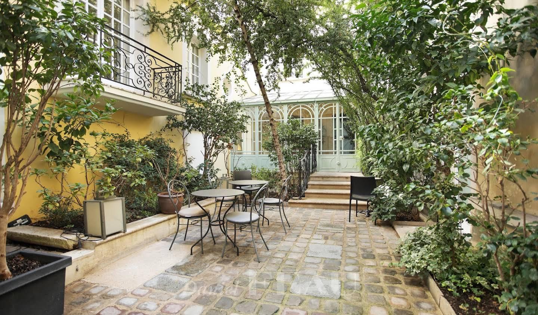 Hôtel particulier avec jardin Paris 4ème