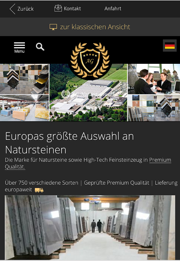 AG Natursteinwerke- screenshot