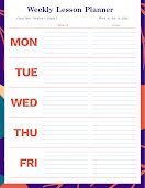 Lined Lesson Planner - Weekly Schedule item
