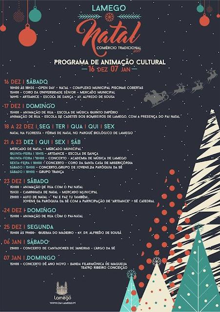 Programa de Animação Cultural - Lamego - Natal - 2017