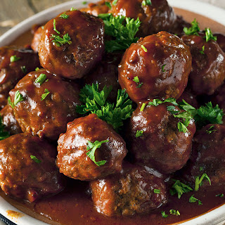 Slow Cooker Barbecue Meatballs