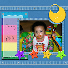 Photo: This is a template from zscrapbooks.com - I think I'm in love with this site! Made 8/11/06 - Kaleya's first meal back in April of 2005