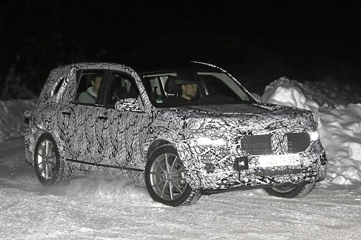 Camouflage hides the shape of the Mercedes GLB, but insiders promise it will look like a baby G-Class. Picture: BRIAN WILLIAMS/SPIEDBILDE