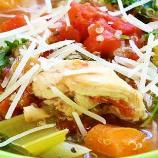 Crockpot Kale Chicken Soup