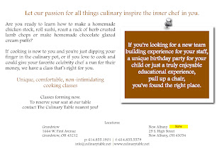 Photo: Cooking Classes Postcard - Back