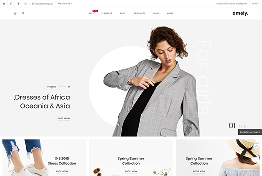 Popular Magento themes - Amely