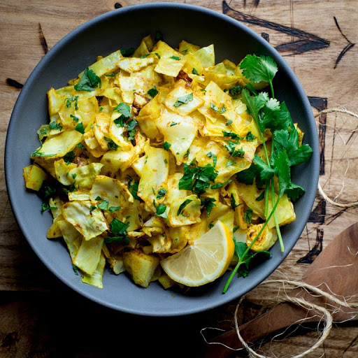Curry Roasted Cabbage