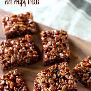 Healthy Chocolate Rice Crispy Treats.