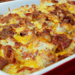 Bacon, Egg, And Cheese Breakfast Casserole.