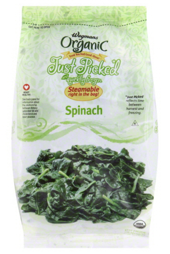 Wegmans Organic Just Picked and quickly frozen Spinach