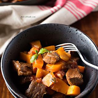 Vietnamese One Pot Beef and Pumpkin Stew.