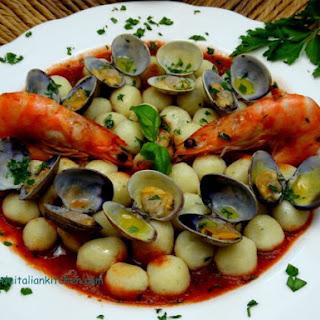 Italian Seafood Gnocchi.