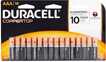 Duracell Coppertop Alkaline Battery - 16ct, AAA