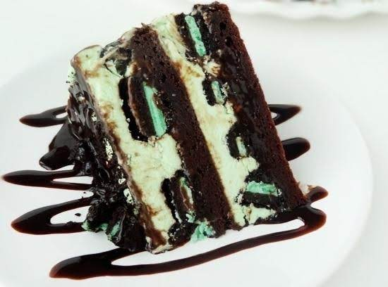Mint Oreo Brownie Ice Cream Cake Recipe