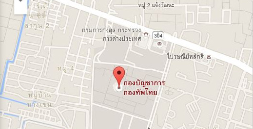 Royal Thai Armed Headquarter Map