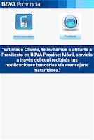 Screenshot of BBVA Provinet Movil