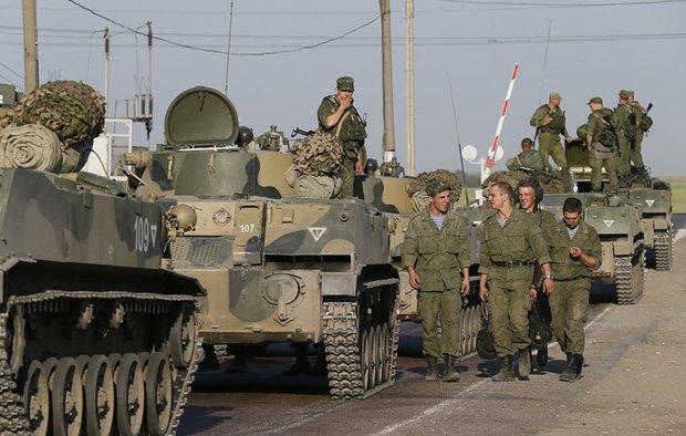Солдаты армии РФ в г.Каменск-Шахтинский, Ростовская область.